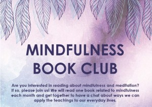 Mindfulness Book Club Flyer top half